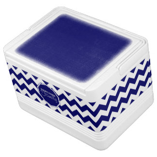 SC Chevron, Blue-White Drk-12 Can Igloo Cooler