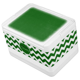 SC Chevron, Green-White-12 Can Igloo Cooler