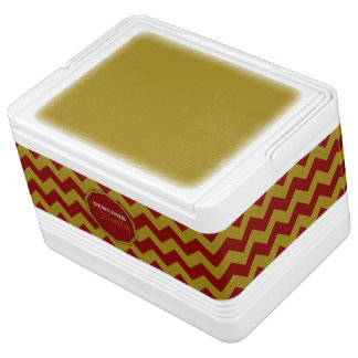 SC Chevron,Maroon-Gold-12 Can Igloo Cooler