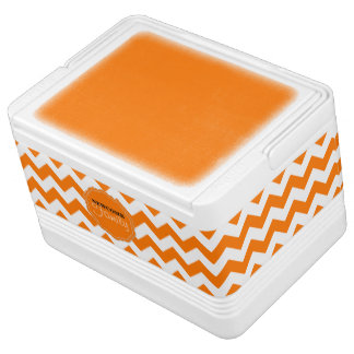 SC Chevron, Orange-White-12 Can Igloo Cooler