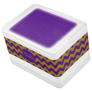 SC Chevron,Purple-Gold-12 Can Igloo Cooler