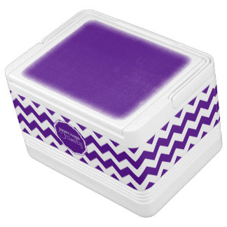 SC Chevron,Purple-White-12 Can Igloo Cooler