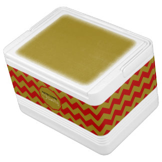 SC Chevron, Red-Gold-12 Can Igloo Cooler