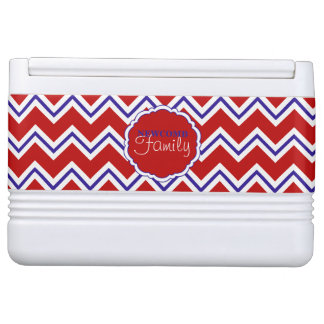 SC Chevron,Red-White-Blue-12 Can Igloo Cooler