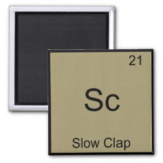 Sc - Slow Clap Funny Chemistry Element Symbol Tee Square Magnet