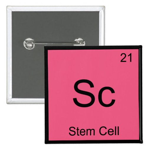 Sc - Stem Cell Funny Chemistry Element Symbol Tee Buttons