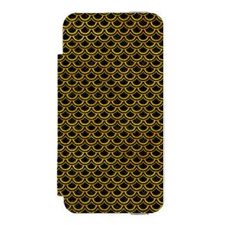 SCA2 BK-YL MARBLE INCIPIO WATSON™ iPhone 5 WALLET CASE