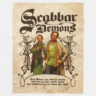 Scabbar Demons Fleece Blanket