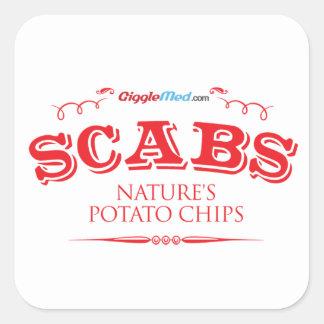 Scabs: Nature's Potato Chips Square Sticker