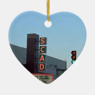 SCAD CERAMIC HEART ORNAMENT