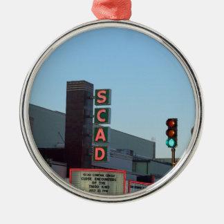 SCAD Silver-Colored ROUND ORNAMENT