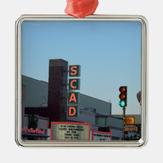 SCAD Silver-Colored SQUARE ORNAMENT
