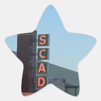 SCAD STAR STICKER