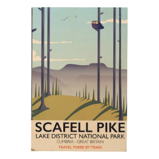 Scafell Pike, Cumbria, Vintage travel poster