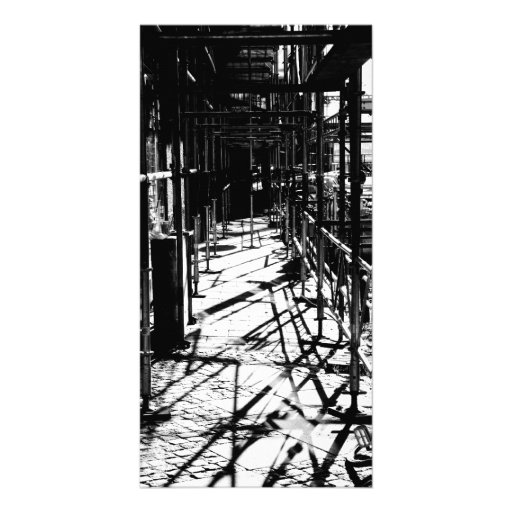 Scaffolding shadows personalized photo card