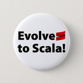 Scala Button, Evolve Logo 2 Inch Round Button