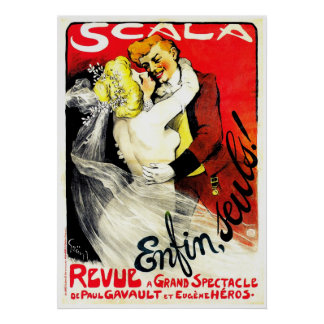 Scala Enfin Seuls ~ Vintage Advertisement Poster