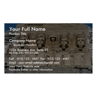 Scale model sand sculpture of Egyptian ruins, Egyp Business Card