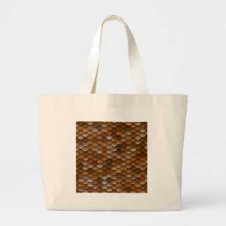Scale Pattern Large Tote Bag
