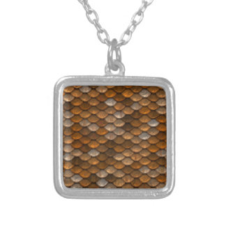 Scale Pattern Silver Plated Necklace