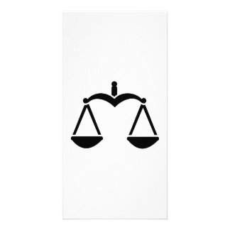 Scale symbol photo greeting card