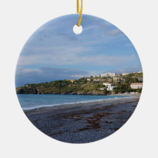 Scalea Beach, Calabria Ceramic Ornament