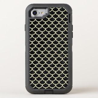 SCALES1 BLACK MARBLE & BEIGE LINEN OtterBox DEFENDER iPhone 8/7 CASE