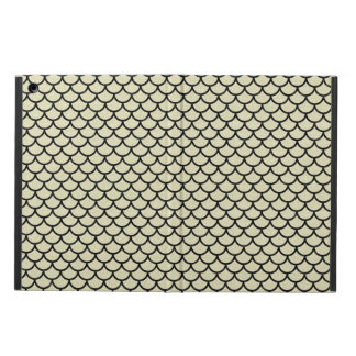 SCALES1 BLACK MARBLE & BEIGE LINEN (R) COVER FOR iPad AIR