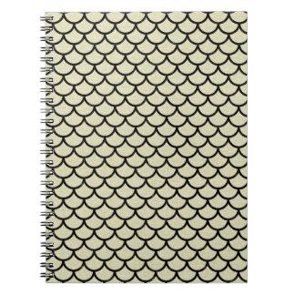 SCALES1 BLACK MARBLE & BEIGE LINEN (R) NOTEBOOKS