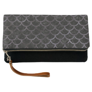 SCALES1 BLACK MARBLE & BLACK WATERCOLOR CLUTCH