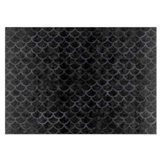 SCALES1 BLACK MARBLE & BLACK WATERCOLOR CUTTING BOARD