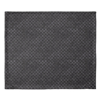 SCALES1 BLACK MARBLE & BLACK WATERCOLOR DUVET COVER