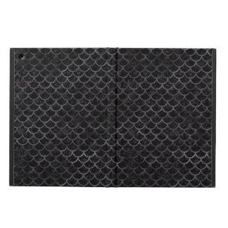 SCALES1 BLACK MARBLE & BLACK WATERCOLOR iPad AIR CASE