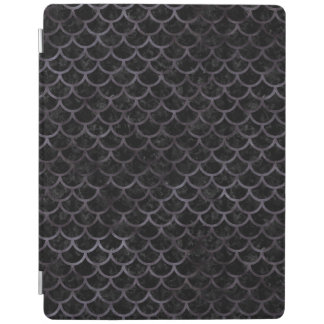 SCALES1 BLACK MARBLE & BLACK WATERCOLOR iPad COVER