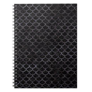 SCALES1 BLACK MARBLE & BLACK WATERCOLOR NOTEBOOK