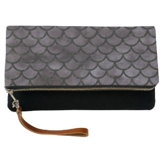 SCALES1 BLACK MARBLE & BLACK WATERCOLOR (R) CLUTCH