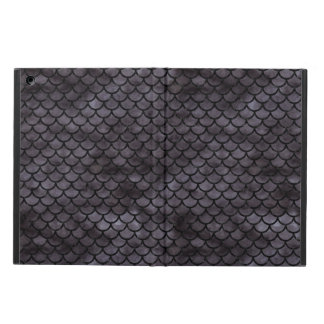 SCALES1 BLACK MARBLE & BLACK WATERCOLOR (R) COVER FOR iPad AIR