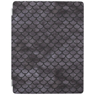SCALES1 BLACK MARBLE & BLACK WATERCOLOR (R) iPad COVER