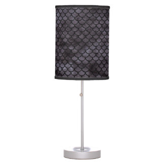 SCALES1 BLACK MARBLE & BLACK WATERCOLOR (R) TABLE LAMP