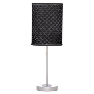 SCALES1 BLACK MARBLE & BLACK WATERCOLOR TABLE LAMP