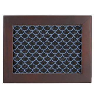 SCALES1 BLACK MARBLE & BLUE DENIM MEMORY BOXES