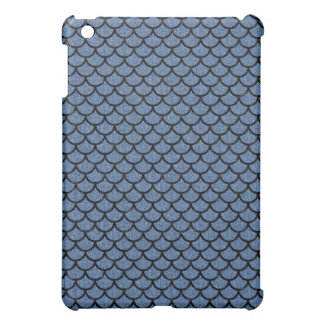 SCALES1 BLACK MARBLE & BLUE DENIM (R) CASE FOR THE iPad MINI