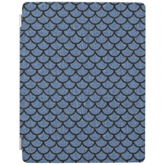 SCALES1 BLACK MARBLE & BLUE DENIM (R) iPad COVER