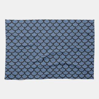SCALES1 BLACK MARBLE & BLUE DENIM (R) KITCHEN TOWEL