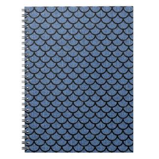 SCALES1 BLACK MARBLE & BLUE DENIM (R) SPIRAL NOTEBOOK