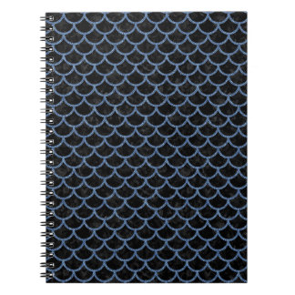 SCALES1 BLACK MARBLE & BLUE DENIM SPIRAL NOTEBOOK