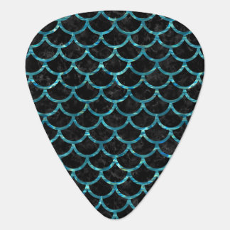 SCALES1 BLACK MARBLE & BLUE-GREEN WATER GUITAR PICK