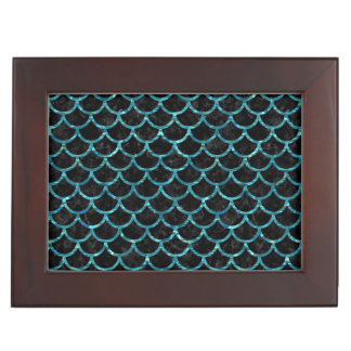 SCALES1 BLACK MARBLE & BLUE-GREEN WATER KEEPSAKE BOX