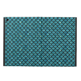 SCALES1 BLACK MARBLE & BLUE-GREEN WATER (R) COVER FOR iPad AIR