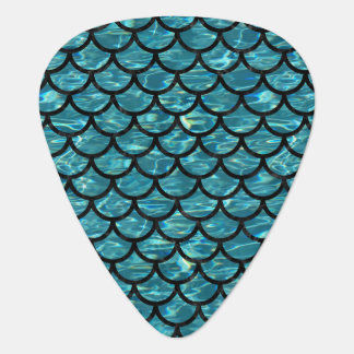 SCALES1 BLACK MARBLE & BLUE-GREEN WATER (R) GUITAR PICK